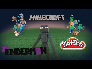 Playdoh Minecraft Enderman Mob Playdough full tutorial Майнкрафт Эндермен 마인 크래프트
