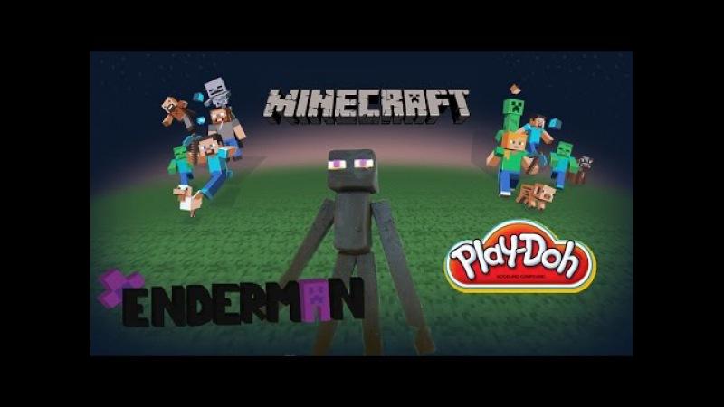 Playdoh Minecraft Enderman Mob Playdough full tutorial Майнкрафт Эндермен 마인 크래프트