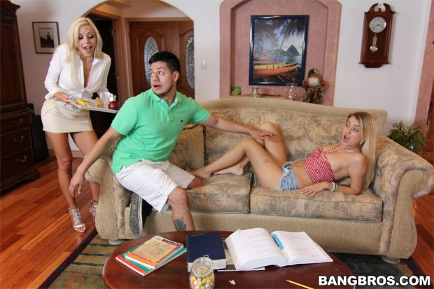 BangBros - Stepmom cleans up the mess