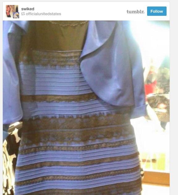 Я вижу платье и синим и белым
