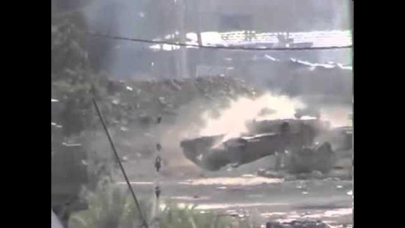 Сирия, выстрел из Т-72