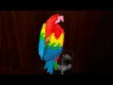 Оригами из модулей попугай ара (видео схема сборки)