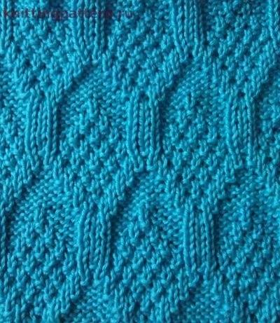 Вязание спицами рисунок Свечи (2 фото) - картинка