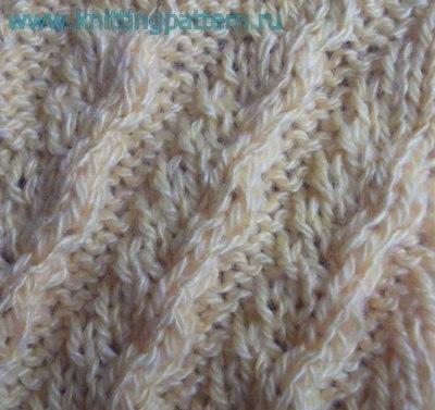 Как вязать косы спицами Диагональные волны… (2 фото) - картинка