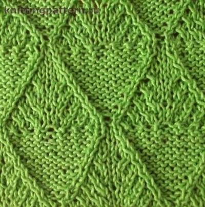 Вязание косы спицами схемы Гофрированные ромбы… (2 фото) - картинка