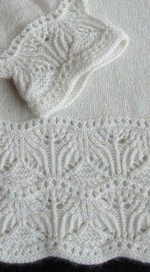 Схема каймы спицами (3 фото) - картинка