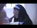 Монашка просит прощения у святого отца, который заставил ее отсосать, а потом глубоко и грубо выебал ее в рот и накончал на лицо