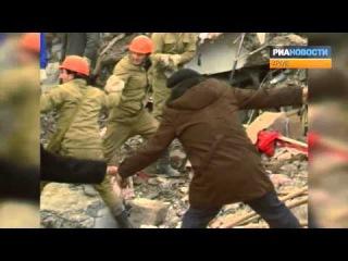 Последствия землетрясения в Армении 7 декабря 1988 года. Архивные кадры