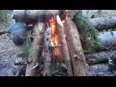 Как отпугивать медведя при ночевке в тайге, а также как быстро жечь сырые дрова.