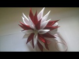 МК цветок из атласной ленты (техника канзаши)