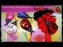 Como hacer mariquitas de cinta para el cabello ladybug