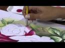 25/04/2013 Ana Laura Rodrigues - Pintura em tecido rosas Parte 1