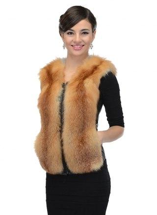 Сшить жилет из меха лисы своими руками