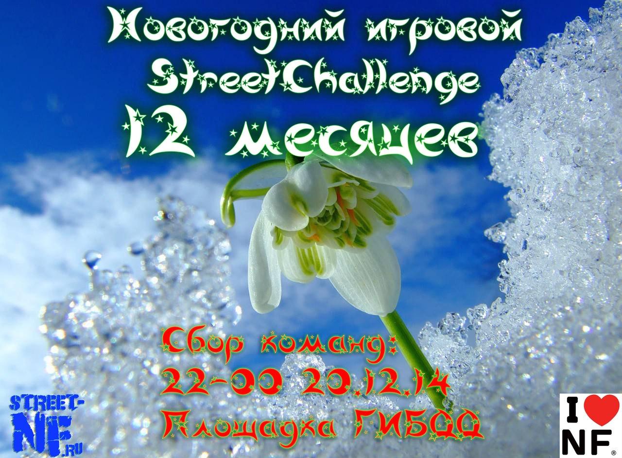 """Афиша Наро-Фоминск Новогодний игровой StreetChallenge """"12 месяцев"""""""