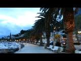 Вечерний променад и марина в Башка-Вода Хорватия / Evening promenade in Baska Voda