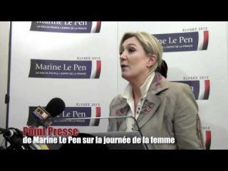 Point presse de Marine Le Pen sur la journée de la femme