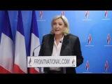 2ème tour des municipales 2014 : Point presse de Marine Le pen