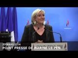 Point presse de Marine Le Pen (23 mars 2014)