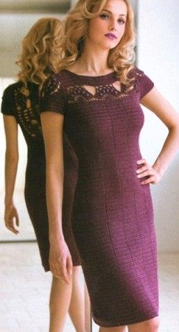 Схема вязания красивого платья