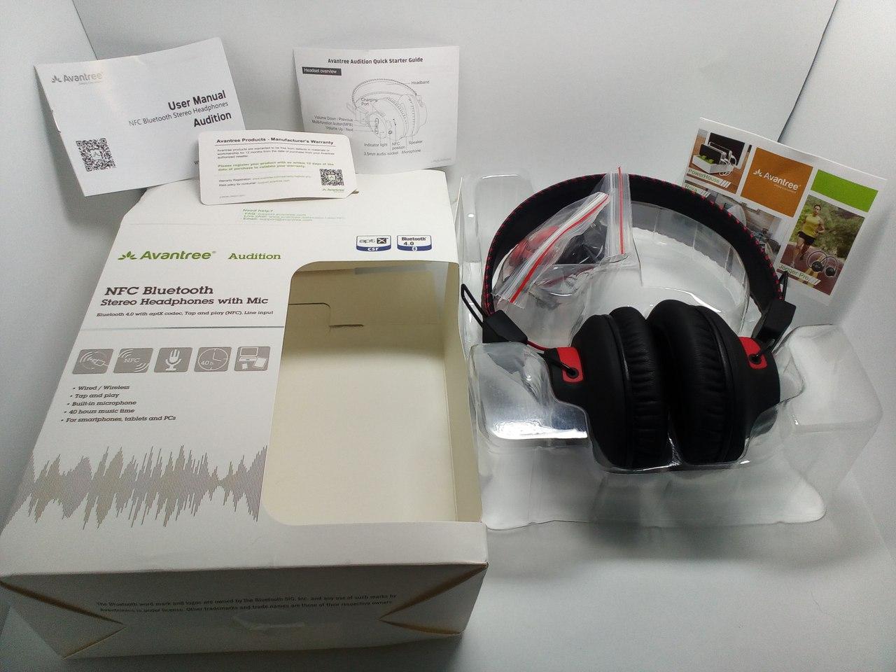 Другие - Китай: Добротная Bluetooth стерео-гарнитура Avantree Audition