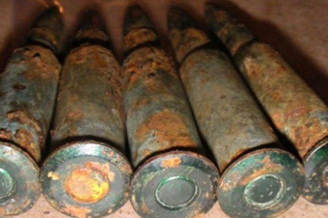 Под Таганрогом найдены 18 снарядов времен ВОВ