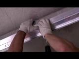 Полный цикл установки двухуровневого натяжного потолка с светодиодной подсветкой