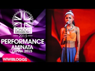 Live: Aminata (Latvia) - The Bound @ London Eurovision Party 2015 | wiwibloggs