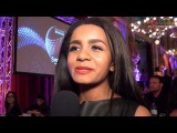 Interview Aminata at the opening reception in Vienna - Latvia Eurovision 2015