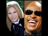 Barbra Streisand with Stevie Wonder