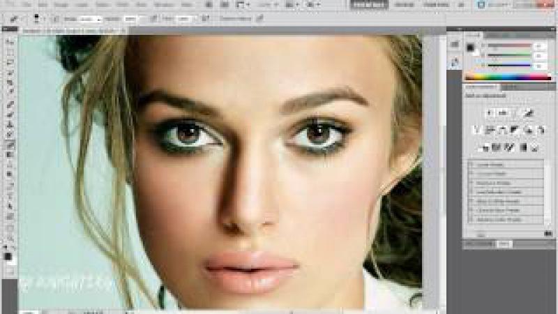 Как сделать глаза в фотошопе выразительными