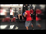 Manny Pacquiao beating punchbag on first day of training