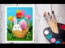 Видео урок Рисуем Гуашью Пасхального кролика! Dari Art