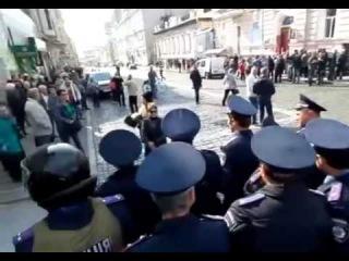 Разгон митинга 'За мир' в г  Харьков  27 09 2014 2ч