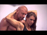 Triple H and Stephanie McMahon are on the cover of
