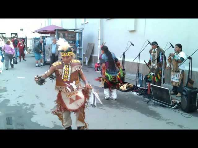 Реальные индейцы в центре Москвы! Настоящая этническая музыка!