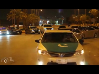 Pakistani celebrating independence day in Riyadh (14 August) with National Anthem