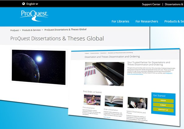 Proquest dissertations search option