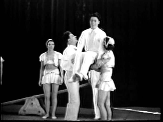 The Honey Family teeterboard acrobats Schleuderbrett подкидная доска