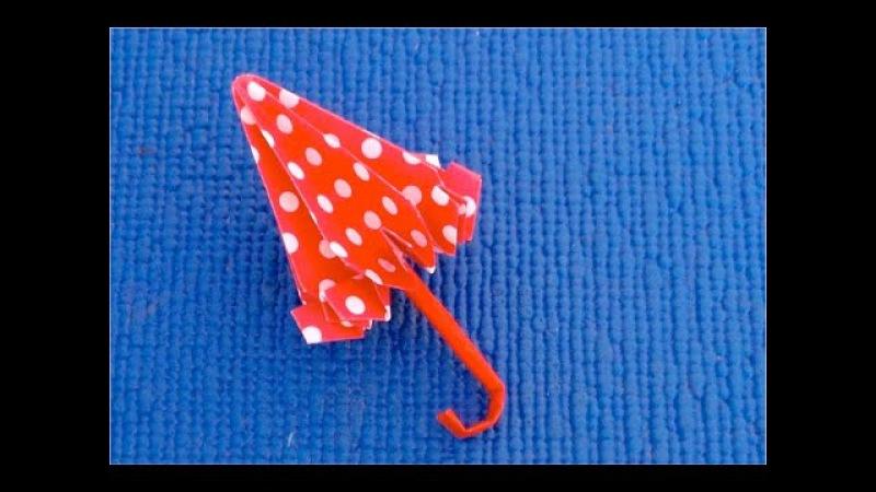DIY ♡ Как сделать зонтик для кукол♡ Кукольный зонтик из бумаги своими руками♡ Мастер класс