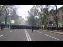 28 апреля 2014 Донецк ⚡ Ukraine crisis 2014 Donetsk Violent Clashes Ukrainian Ultras versus DPR Supporters