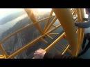 Climbing the bridge to Russky Island