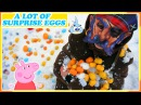 200 Surprise Eggs Unboxing in the Snow with Pirate: Peppa Pig, Marvel Batman, Angry Birds