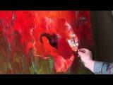 ПОЛНЫЙ урок И.Сахарова Цветы Маки Живопись мастихином Обучение живописи