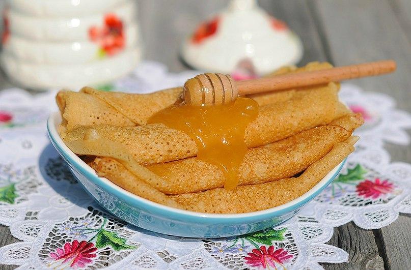 Блинчики с медом рецепт с фото