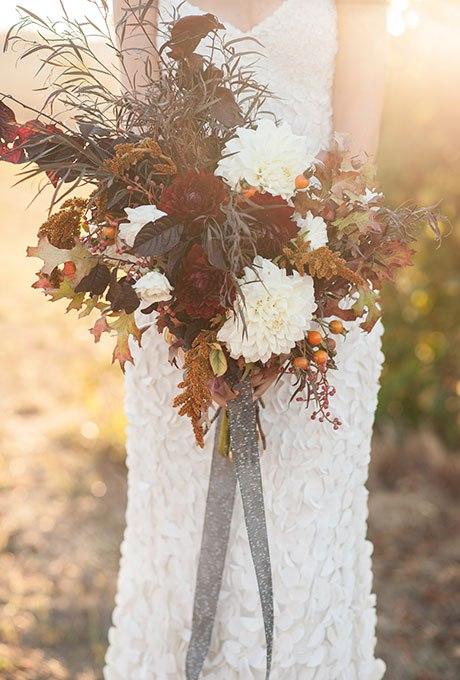 YQSr m 53TQ - Великолепие осени в свадебных букетах (42 фото)
