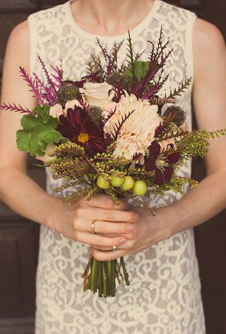 R41iMFZSX5Y - Великолепие осени в свадебных букетах (42 фото)