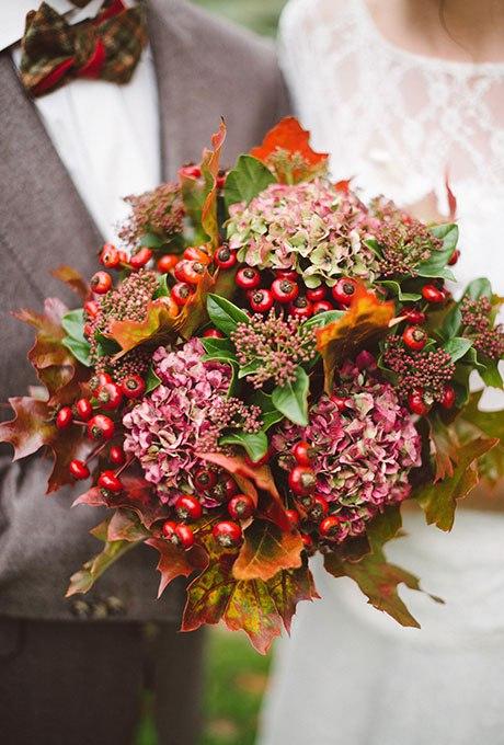 V2sXsXuBfKM - Великолепие осени в свадебных букетах (42 фото)