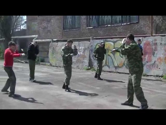 Казачий ножевой бой Шахты Отработка техники уколов атак Базовые упражнения