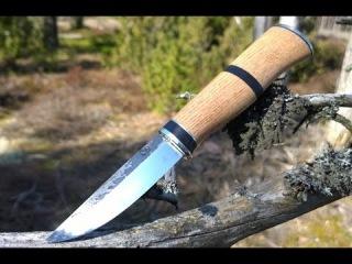 Red Oak and Puronvarsi puukko knife marriage
