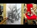 Обучение рисунку. Введение. 26 серия: несложный натюрморт, завершение работы в тоне